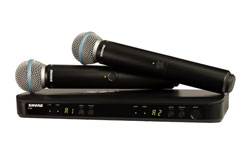 Shure BLX288/B58 | Dual Channel Wireless Handheld Microphone System | H10 Band